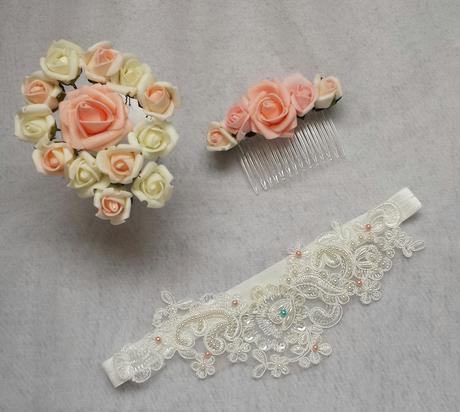 Vlásenky s barevným květem nejen na svatbu,