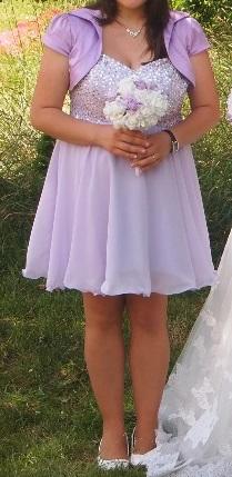 Svetlo fialové/lila šaty, 44