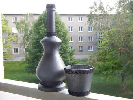 Váza + svietnik,
