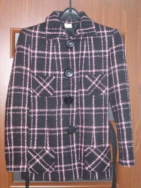 Dámsky krátky kabát s opaskom slovenská výroba, 38