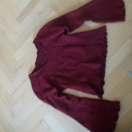 úpletový sveter so zvonovými rukávmi, 36