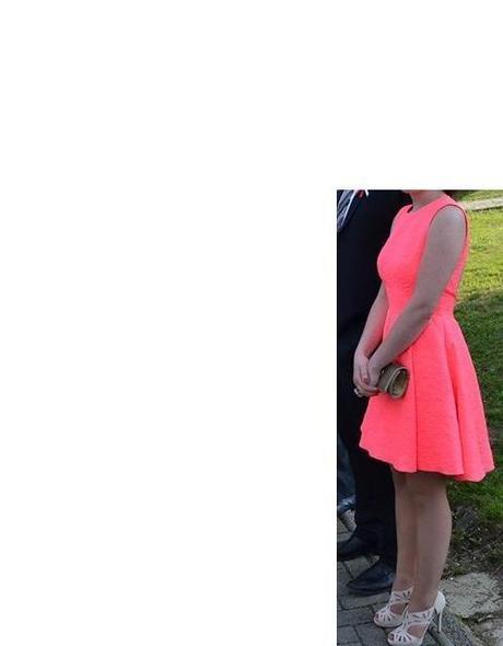 krátke, spoločenské, ružové šaty, 36