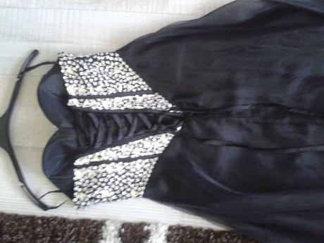 spoločenské dlhé čierne šaty, 38