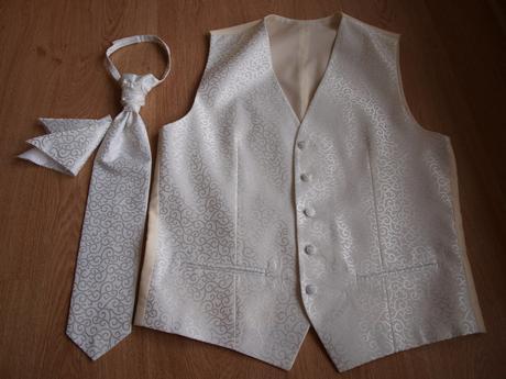 Svadobná vesta + francúzska kravata a vreckovka , 48