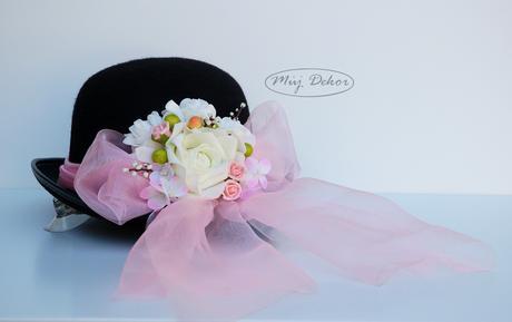 Dekorace na auto nevěsty a ženicha - dvě provedení,
