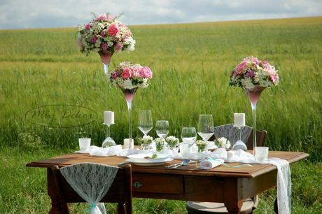 Výzdoba svatebního dne, květiny,
