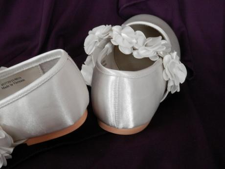Dívčí balerínky s kvítky ve. 28, 28
