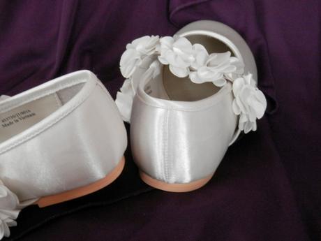 Dívčí balerínky s kvítky ve. 32, 32