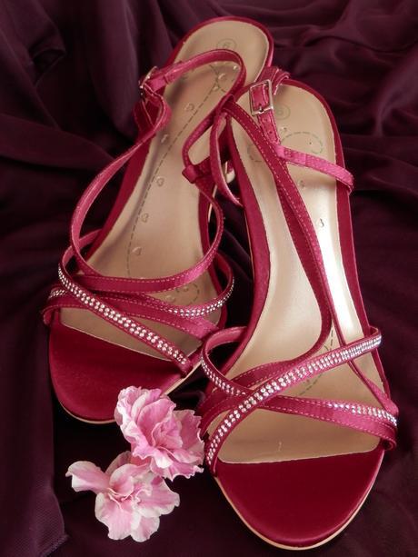Fuchsiové sandály - doprodej, 38