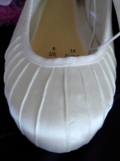 Saténové balerínky - ivory , 38