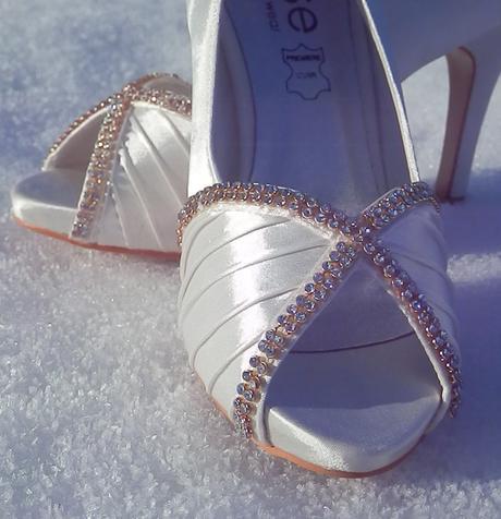 Svatební střevíčky s kamínky vel. 38, 38