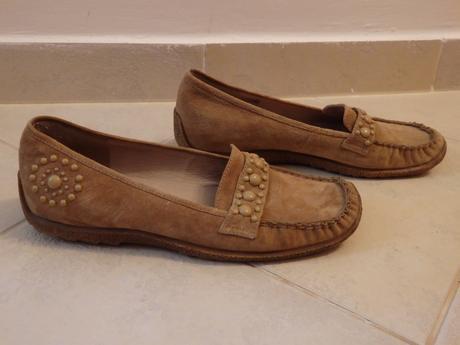 Hnědé kožené boty Baťa, 38