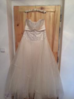 Korzetové svatební šaty vel. 42-46, šněrovací, 44