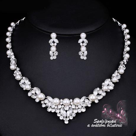 Svadobný perlový set,