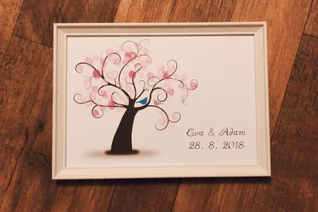 Barevná razítka pro svatební strom,
