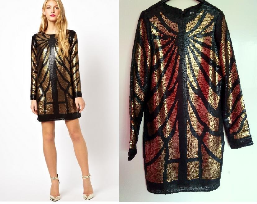 spoločenské šaty s flitrami asos c9091899c5f