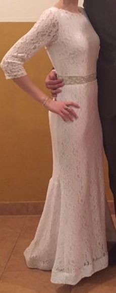 Krajkové biele šaty 34 - 40, 38