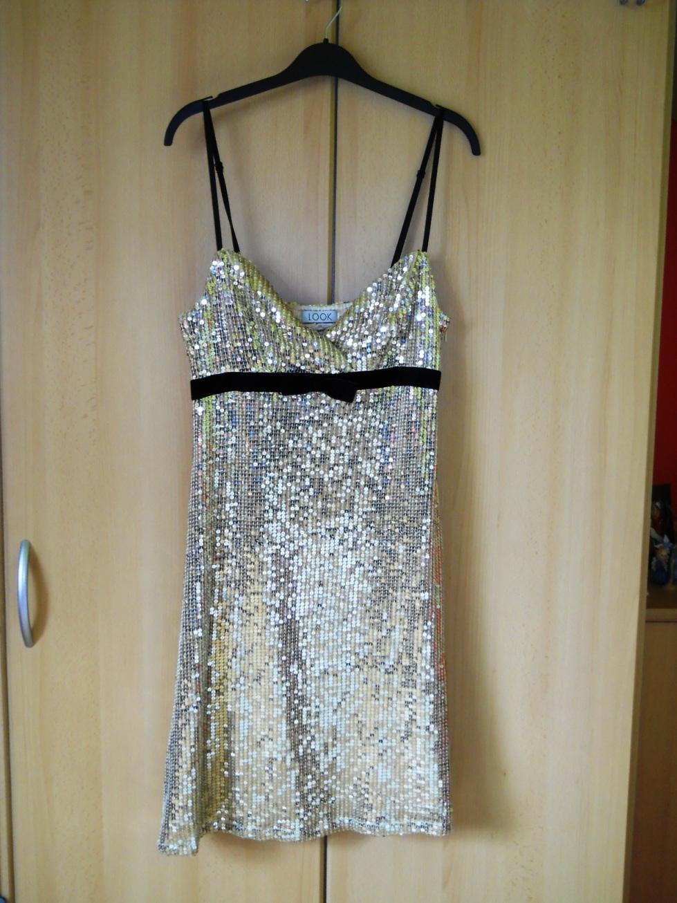 Krátke spoločenské šaty - zlaté m 93f31e31caf