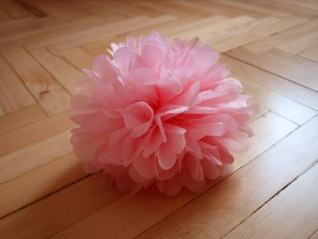 Pom poms - růžové, 20cm,