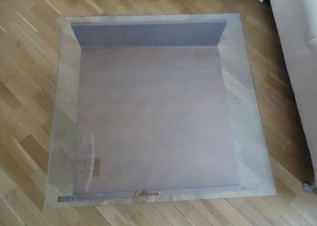 Konferenčný stolík so sklom,