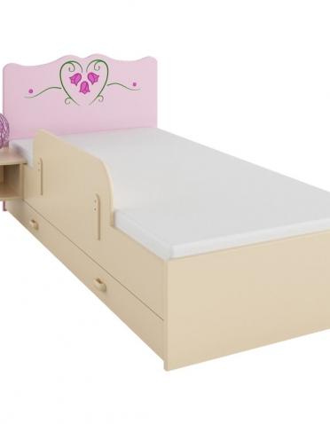 Princeznovská posteľ s ďalšou výsuvnou pre kamošku,