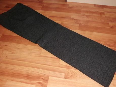 melirovane sedocierne nohavice, 38