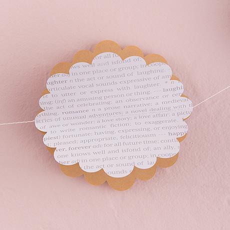 3D Kvetinová Papierová Girlanda - Vintage Kvietky,
