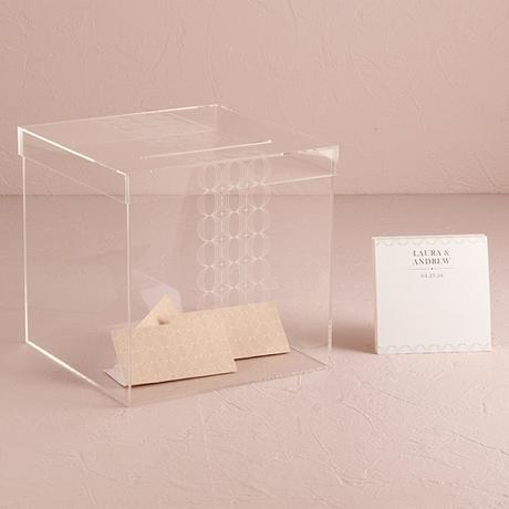 Akrylový box na svadobné venovania,