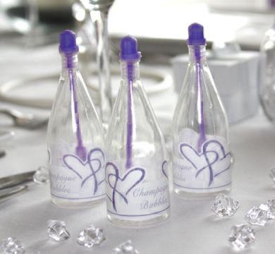 Bublifuk - Šampanské - Purpurové srdcia,