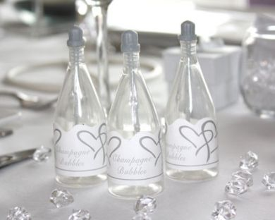 Bublifuk - Šampanské - Strieborné srdcia,