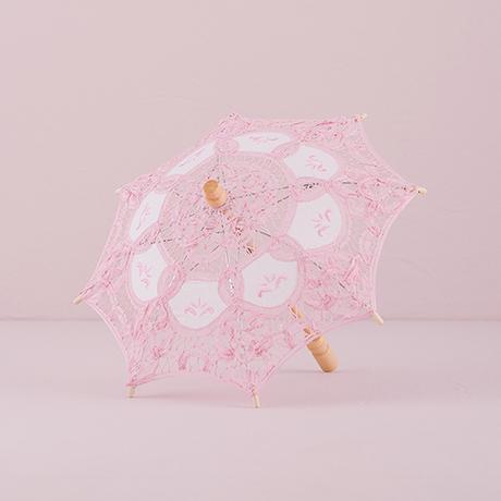 Čipkovaný Slnečník - Vintage Ružová - Malý,