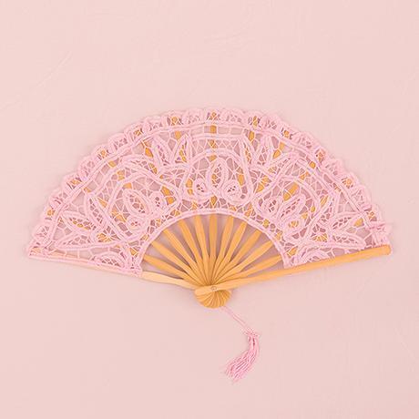 Čipkovaný Vejár - Vintage Ružová,