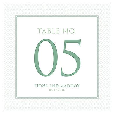 Čísla na stoly - Vintage dizajn,