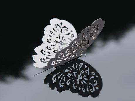 Dekoračné papierové motýle,
