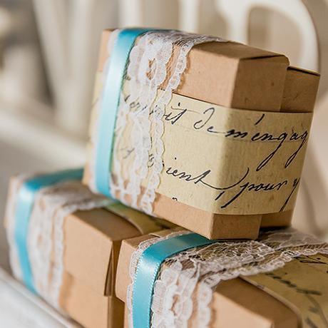 DIY Vintage krabička a stuhy - set ,