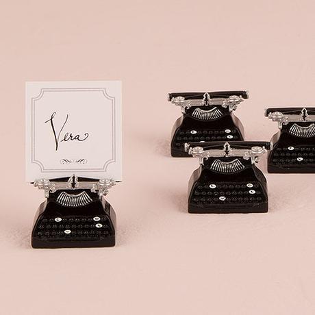 Držiak na Menovku - Vintage Písací Stroj,