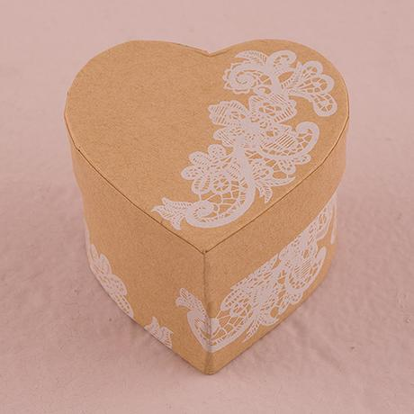 Krabička s vekom - Srdce - Vintage čipka,