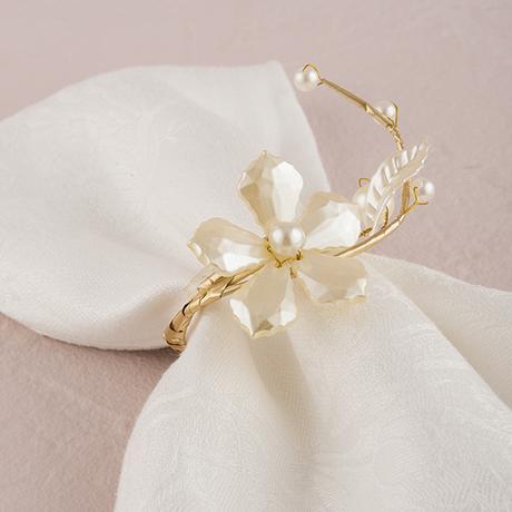 Kvetinový krúžok - Perly & Vintage,