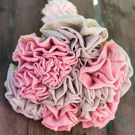 Látkový Riasený Kvet na Stonke - Veľký,