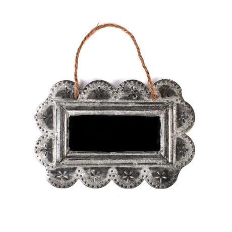 Malý čipkovaný plechový ramček s tabuľkou,