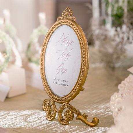 Malý Oválny Barokový Rám - Zlatý,
