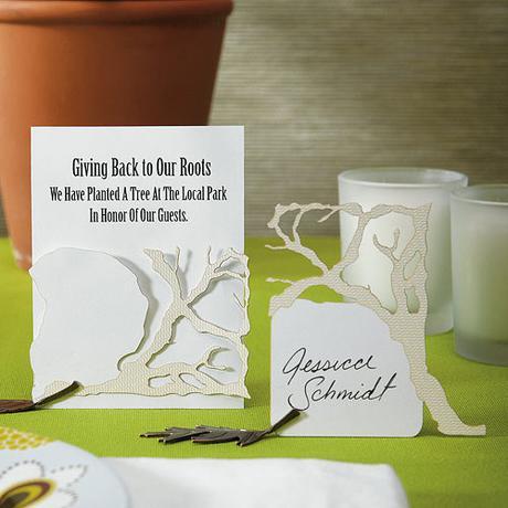 Menovky pre hostí - vetva a koreň - Ivory,
