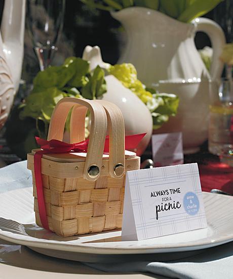 Mini pletený piknikový košík,