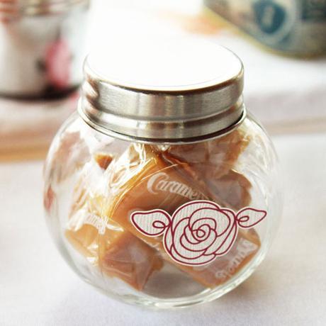 Mini sklenené nádobky s vrchnákom,