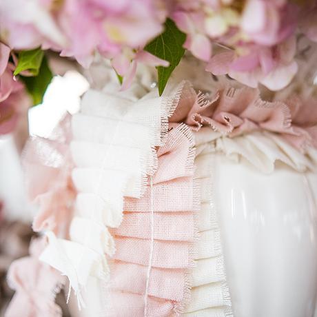 Nariasená Stuha - Ivory alebo Pastelová Ružová,