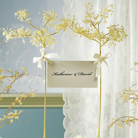 Okrasný dekoračný zlatý strom - Perly & Vintage ,