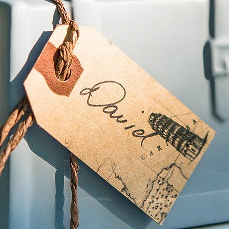 Papierové Vintage označovacie štítky,