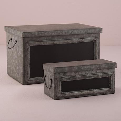 Plechový Box s Vekom a Tabuľkou,