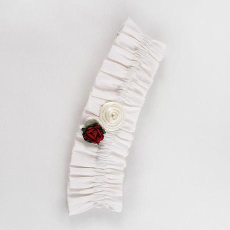 Podväzok pre nevestu - Kvety lásky - jedna veľkosť, M