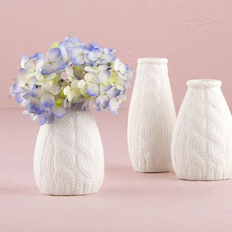Porcelánové Vázy - Reliéf Pleteniny - Set,